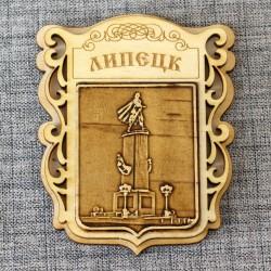 """Магнит из бересты """"Памятник Петру 1"""""""