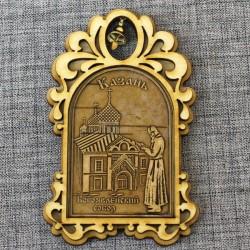 """Магнит из бересты арка с колокольчиком """"Богоявленский собор"""""""