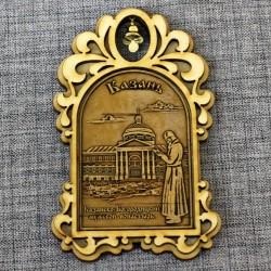 """Магнит из бересты арка с колокольчиком """"Казанско-Богородицкий мужской монастырь"""""""