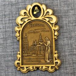 """Магнит из бересты арка с колокольчиком """"Свято-Успенский Зилантов женский монастырь"""""""