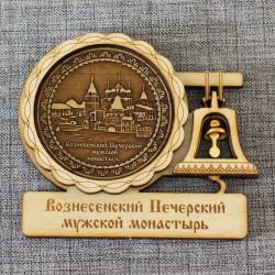 """Магнит из бересты с колоколом Вознесенский Печерский монастырь"""" Н-Новгород"""