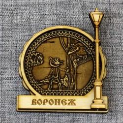 "Магнит из бересты фонарь ""Котенок с ул.Лизюкова"""