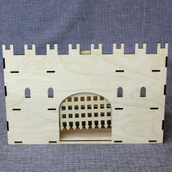 Стена с воротами для замка