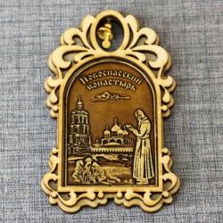 """Магнит из бересты арка с колокольчиком """"Новоспасский монастырь+мона"""