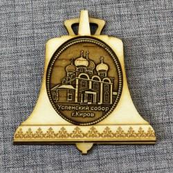 """Магнит из бересты колокол """"Успенский собор"""""""