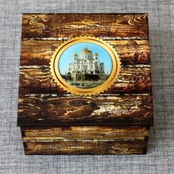 """Шкатулка из дерева со смолой """"ХХС"""" Москва"""