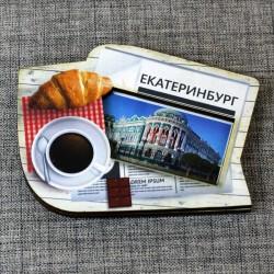 """Магнит цветной газета """"Дом Севастьянова"""" Екатеринбург"""