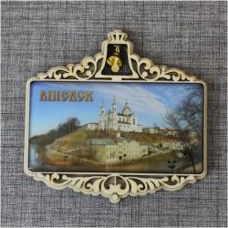 """Магнит из смолы прям. с колокольчиком """"Успенский собор"""" Витебск"""
