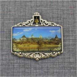 """Магнит из смолы прям. с колокольчиком """"Новоспасский монастырь"""