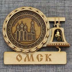 """Магнит из бересты с колоколом """"Собор Рождества Христова"""""""