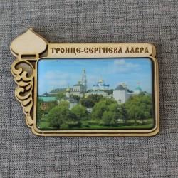 """Магнит из смолы прям.с куполом """"Троице-Сергиева Лавра"""