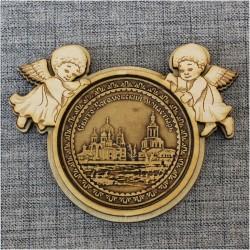"""Магнит из бересты ангелы """"Свято-Боголюбский монастырь"""" п.Боголюбово"""