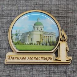 """Магнит из смолы фонарь+свеча """"Данилов монастырь"""""""