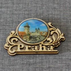 """Магнит из смолы винтаж """"Часы"""" Прага"""