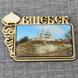 """Магнит из смолы прямоугольный с куполом""""Успенский собор"""" Витебск"""