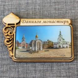 """Магнит из смолы прямоугольный с куполом """"Данилов монастырь"""""""
