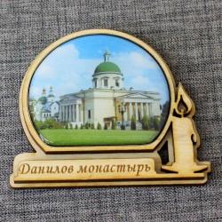 """Магнит из смолы свеча """"Данилов монастырь"""""""