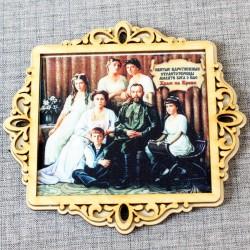 """Молитва портрет """"Царская семья"""" с молитвой Храм на Крови"""