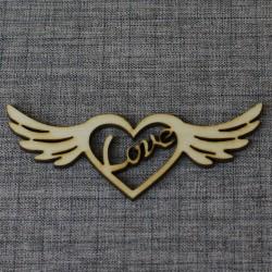 Сердце с крыльями (набор 5шт)