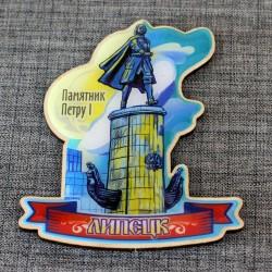 """Магнит из смолы """"Памятник Петру 1"""" Липецк"""