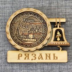 """Магнит из бересты с колоколом """"Кремль"""""""
