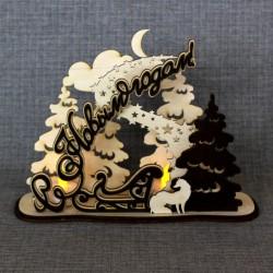 """Новогоднее украшение под светодиодные свечи """"Волшебная ночь"""""""