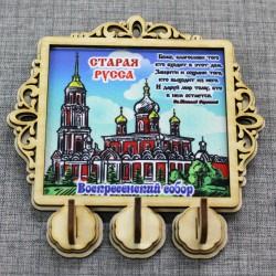 """Ключница на ткани (3) с молитвой """"Св.Н.С."""" Воскресенский собор"""" Старая Русса"""