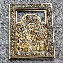 """Икона """"Николай Чудотворец"""" (золото)"""