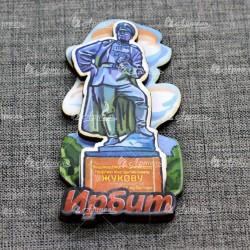 """Магнит цветной """"Памятник Жукову"""" Ирбит"""