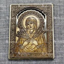 """Икона """"Семистрельная"""" (золото)"""