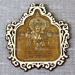 """Молитва ажурная магнит храм """"Святой Николай Чудотворец"""""""