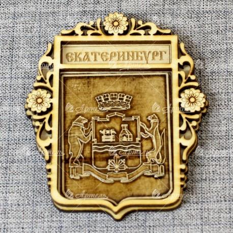 """Магнит из бересты б-страз """"Герб"""" Екатеринбург"""