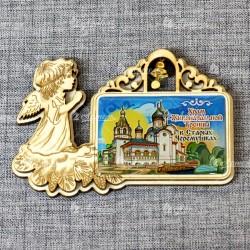"""Магнит со смолой прям ангел с колокольчиком """"Храм Живоначальной Троицы в Старых Черемушках"""""""