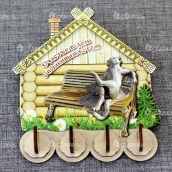 """Ключница домик (3) """"Счастье в дом с Йошкиным котом"""" Йошкар-Ола"""