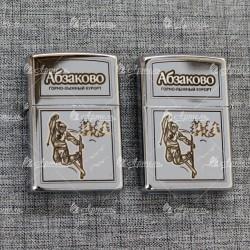 """Зажигалка """"Лыжник"""" Абзаково"""