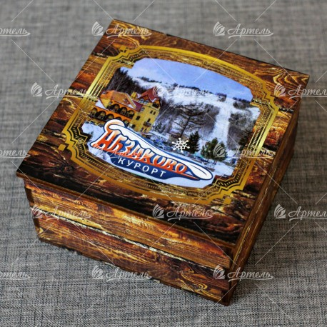 "Шкатулка из дерева ""Курорт Абзаково"" Абзаково"