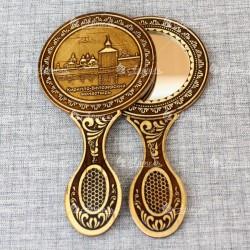"""Зеркало с ручкой """"Кирилло-Белозёрский монастырь"""""""