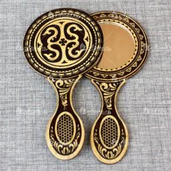 Зеркало с ручкой славянское 2