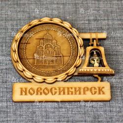 """Магнит из бересты с колоколом """"Троицкий собор"""""""