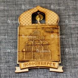 """Магнит из бересты купол """"Троицкий собор"""""""