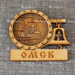 """Магнит из бересты с колоколом """"Успенский собор"""""""