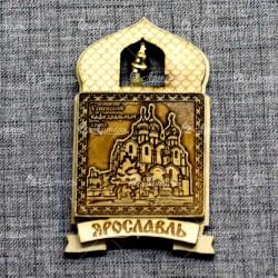 """Магнит из бересты купол """"Успенский кафедральный собор"""" Ярославль"""