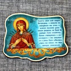 """Магнит из смолы """"Богородица Семистрельная"""""""