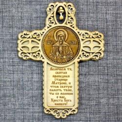 """Магнит из бересты крест с колокольчиком """"Матрона""""""""Величаем…"""""""