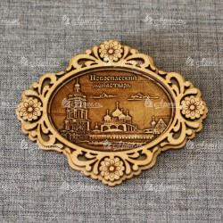 Магнит из бересты б-страз овал Новоспасский монастырь Москва