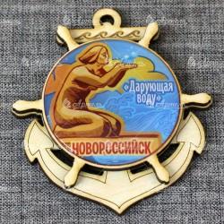 """Магнит из бересты (смола) якорь""""Дарующая воду"""" Новороссийск"""