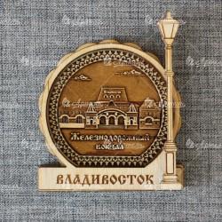 """Магнит из бересты фонарь """"Ж/д вокзал"""""""