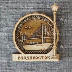 """Магнит из беесты фонарь """"Мост"""" (вид1)"""