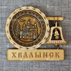 """Магнит из бересты с колоколом """"Кресто-Воздвиженская церковь"""""""