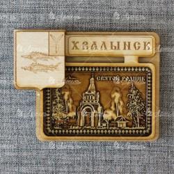 """Магнит из бересты герб """"Святой родник"""""""